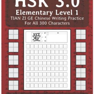 HSK 3.0 Elementary Level 1 TIAN ZI GE Chinese Writing Practice